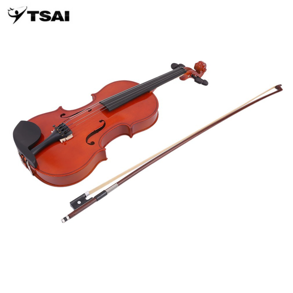 High Grade Solid Wood Handmade 4/4 Acoustic Violin Fiddle With Carry Case Bow Rosin Professional Musical Instrument New aluminium alloy professional fl 05r foldable small music stand musical instrument with double quilted carry bag 4 colors