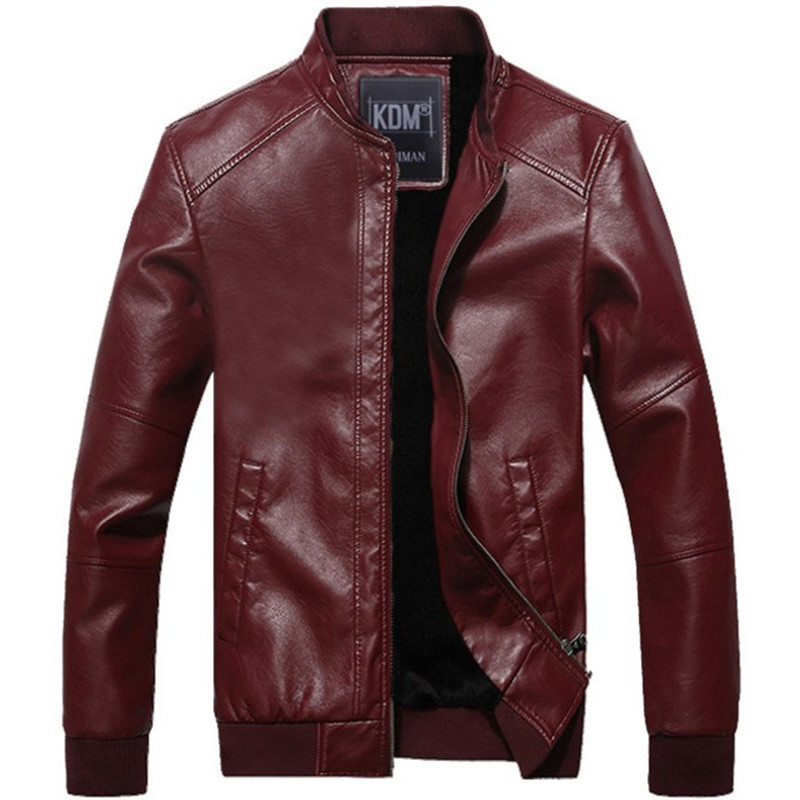 Men Faux Leather Motorcycle Biker Coat Punk Clubwear Slim Jacket Parka Korean P2