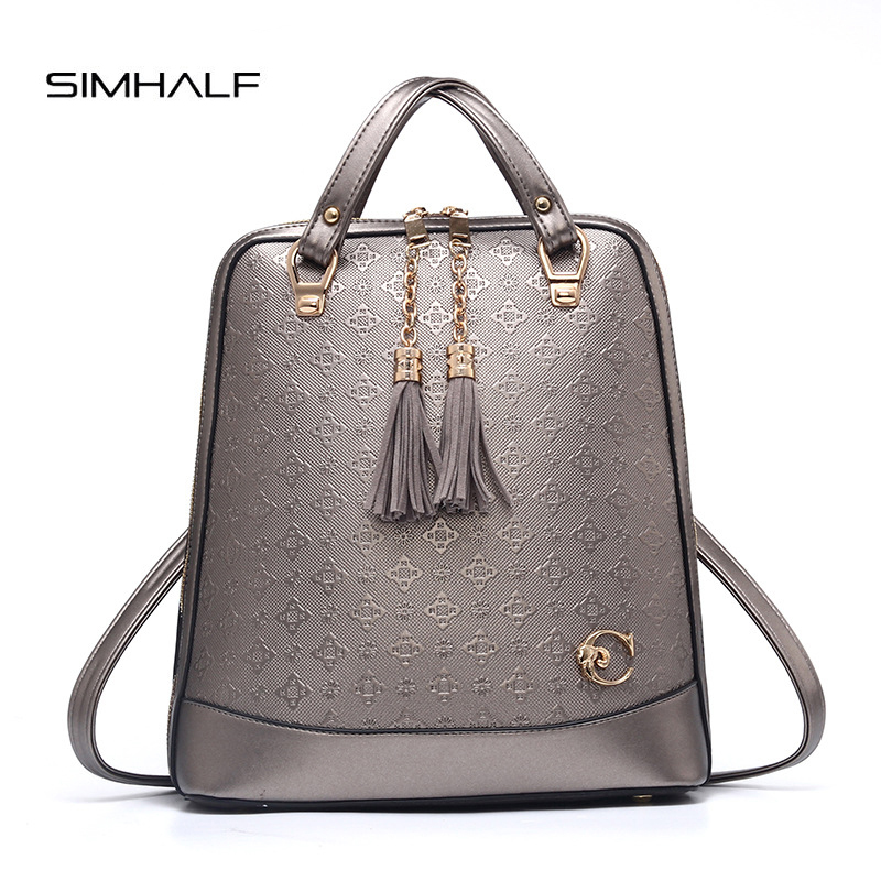 SIMHALF Backpack Women Leather Backpack Travel Bag Women Bag PU Leather Women Backpack Mochilas Feminina School Bags Teenagers new gravity falls backpack casual backpacks teenagers school bag men women s student school bags travel shoulder bag laptop bags