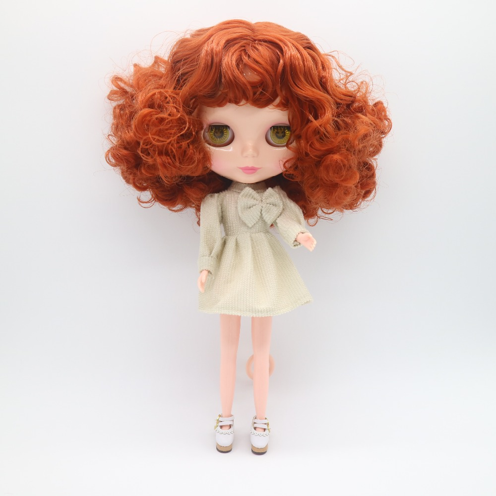 Dolls Bright Nude Blyth Doll Red Hair Factory Doll Suitable For Diy 20170925 J Shrink-Proof