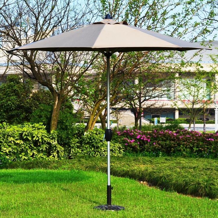 Купить с кэшбэком 2.7 meter type 2 brushed aluminum outdoor sun umbrella patio covers garden parasol sunshade ( no base ) t