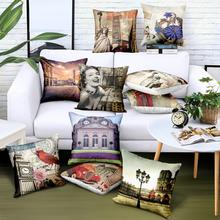22 Styles Custom Wholesale 100 Satin Pillow Covers Decorative Retro Print Logo Brand Advertising Gift Cover Drop Shipping