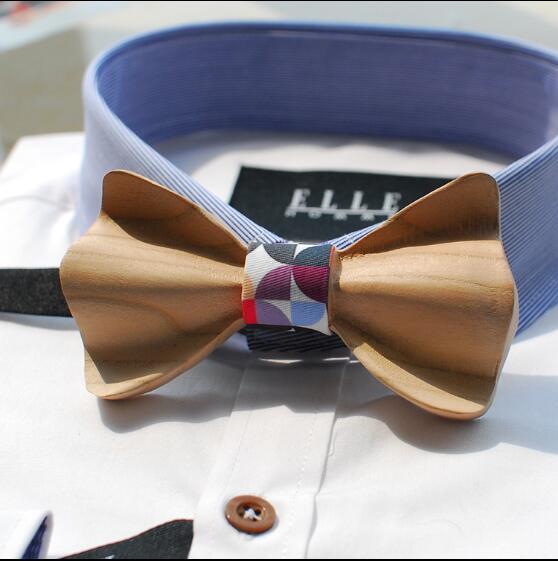 Fashion Wooden bow tie Handwork Carving Wedding Men bow tie