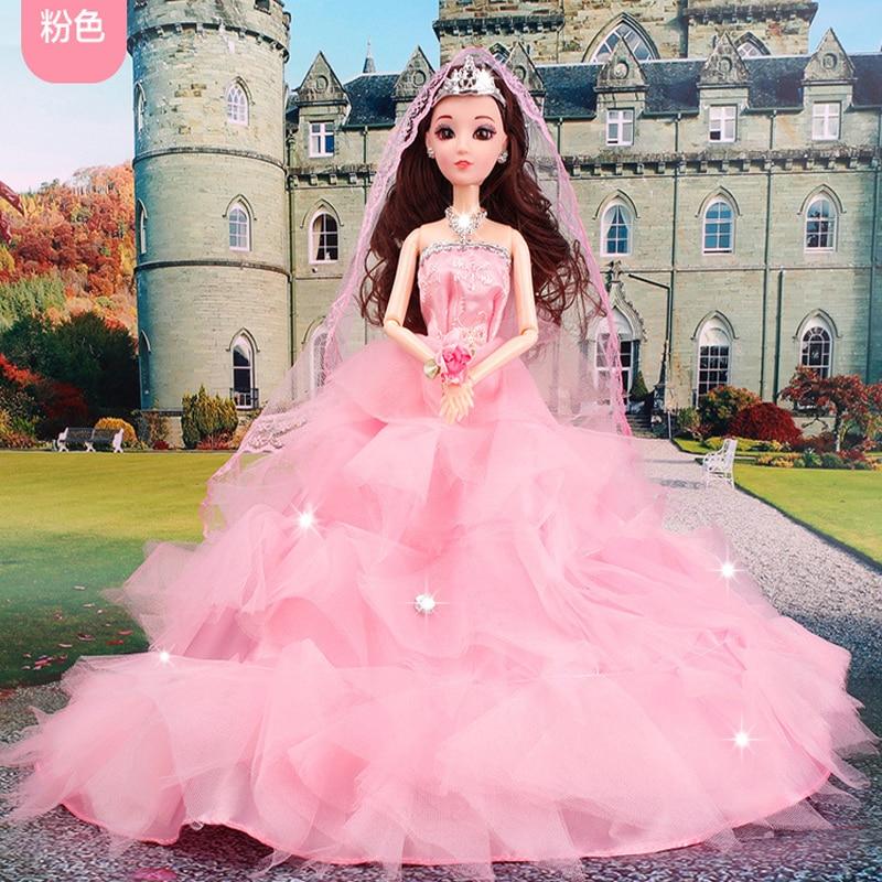 Moda equipamiento del vestido de boda de la muñeca Barbie plumas ...