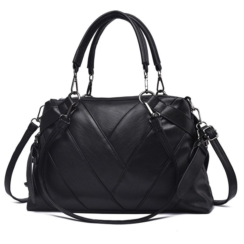 2018 fashion Black PU Luxury Leather Handbags Women bags designer Casual Crossbody Ladies Solid Hand Bags for women 2018