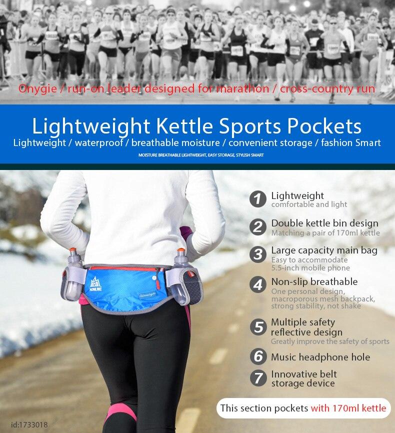 013a4d328a1e US $12.95 45% OFF|AONIJIE Running Waist Pack Marathon Bum Bag Cycling Waist  Belt Unisex Key Money Holder Waist Bag with 2 Water Bottles-in Running ...