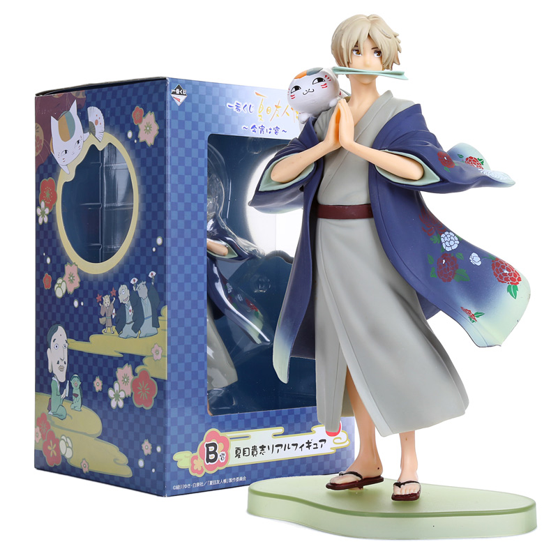 Anime Natsume's Book of Friends Natsume Yuujinchou Takashi Natsume ichiban kuji PVC Figure Collectible Model Toy NYFG003 love thank you natsume takashi yuujinchou nyanko sensei tree 17cm pvc anime figure toy model gift new