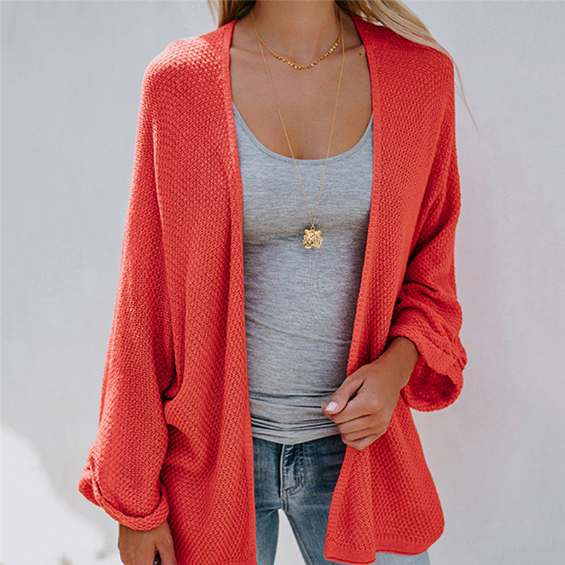 Fashion Women Long Sleeve knitting cardigan sweater Autumn Winter Female Solid Loose Cardigan pull femme 3 Colors