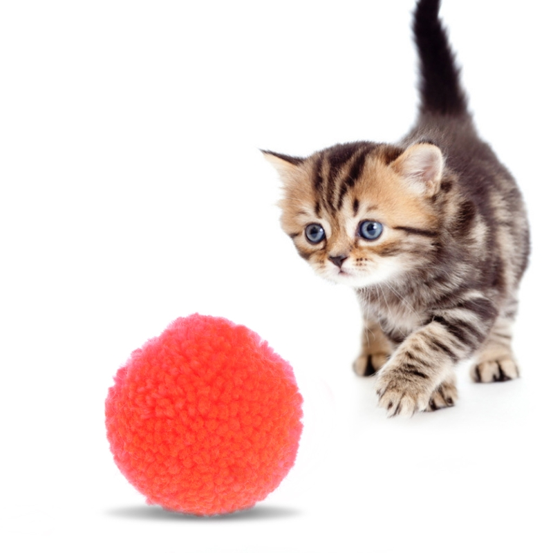 5Pcs Pet Cat Toy Plush Balls Assorted Pet Game Kitten Interactive Soft Candy Color Mascotas Ball Toy