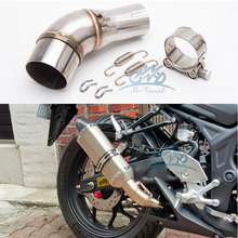 motorcycle exhaust link pipe middle pipe R3 exhaust R25 link pipe MT03 muffler MT03 exhaust fit for 51mm inlet exhaust