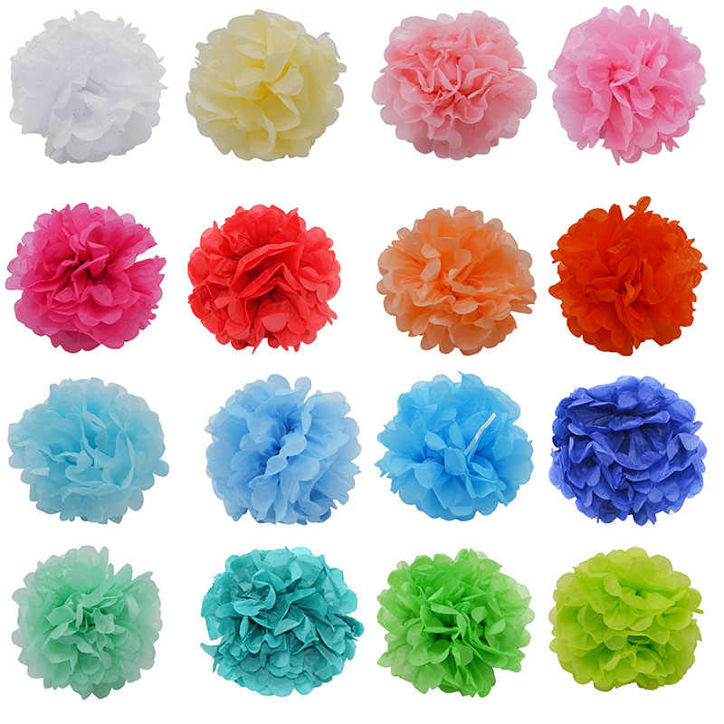 1 pc 4-12 インチティッシュペーパーポンポンポンポン Poms 結婚式の装飾 Diy の紙の花ボールベビーシャワーの誕生日パーティー工芸用品