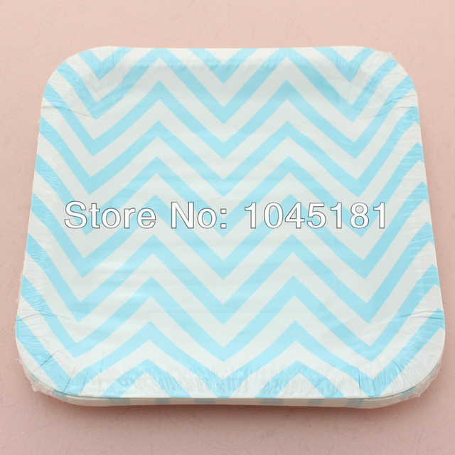 ipalmay Cheap 7\  Square Paper Plates Crafts Picnic BBQ Party Supplies Sky Blue Chevron Paper  sc 1 st  AliExpress.com & ipalmay Cheap 7\