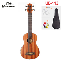 30 inch Mini Electrica Guitar Musical Instruments Full Sapele Retro Closed Knob Ukulele 4 strings Bass Guitar Guitarra UB 113