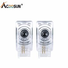 AcooSun LED Car Welcome Light 12V LED Car Styling Logo Projector Door Lamp 6500K White Light For Cadillac SRX, ATS-L,XT5,XTS,CTS(China)