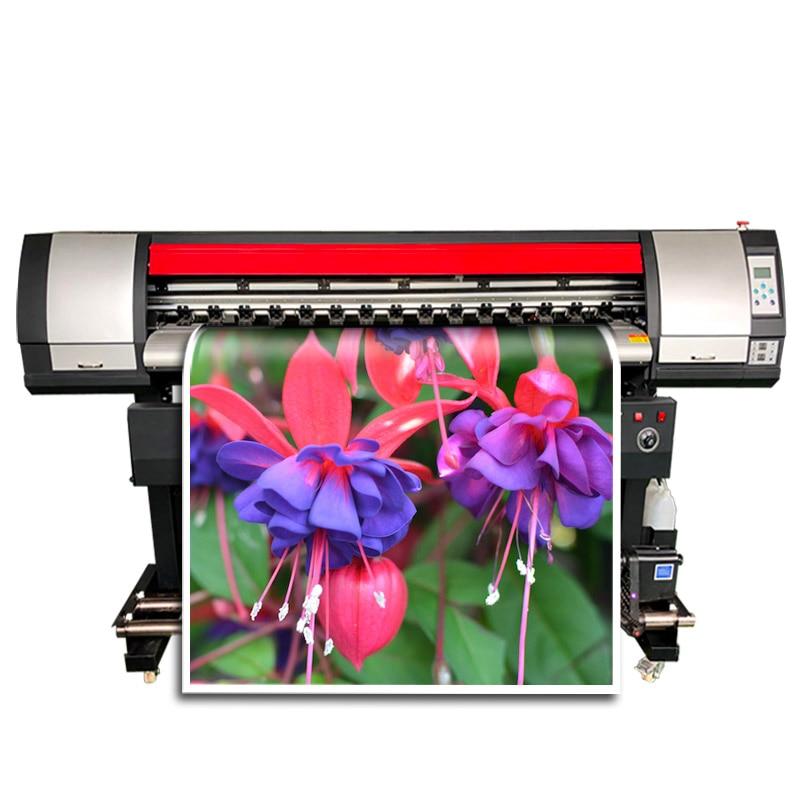 Eco-Solvent Printer 1440 Dpi Outdoor Wide Format Roll To Roll Inkjet Printer Indoor Large Vinyl Sticker Printing Machine