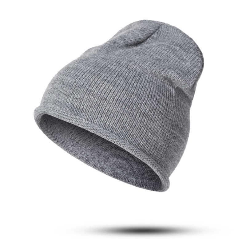 3662d315089859 ... Winter Knitted Hat Women's Winter Warm Soft Casual Cotton Slouchy Hat  Crochet Ski Beanie Hat Female ...