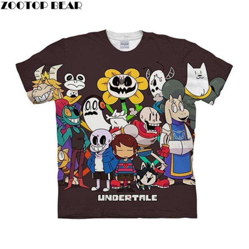 Undertale Family 3D Print Women t shirts Travel Summer tshirt Men t-shirt Tee Short Sleeve Shirts Streetwear Dropship ZOOTOPBEAR