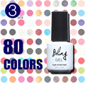 3Pcs 2015 Summer New Bling 80 Fashion Colors UV Gel Nail Polish 6ML Nail Gel 3Pcs