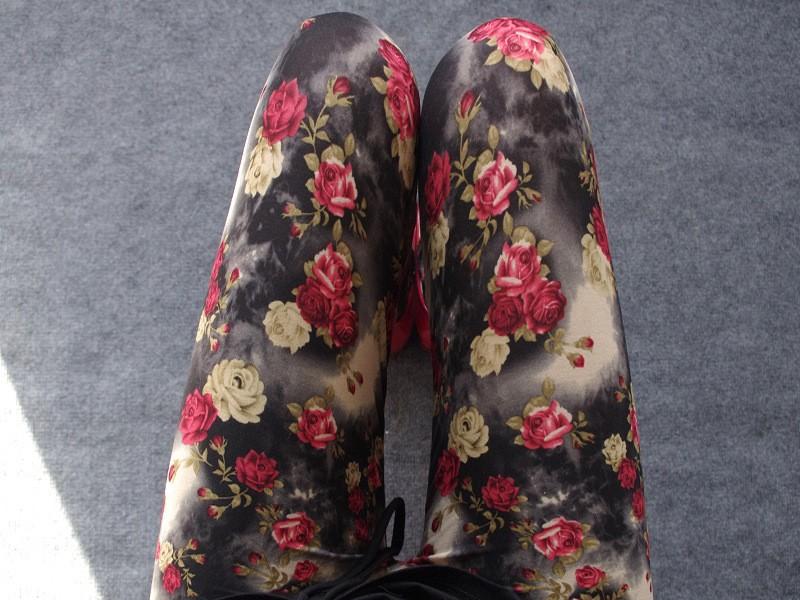 BIVIGAOS Spring Summer Womens Fashion Black Milk Thin Stretch leggings Colored Stars Graffiti Slim Skinny Leggings Pants Female 20