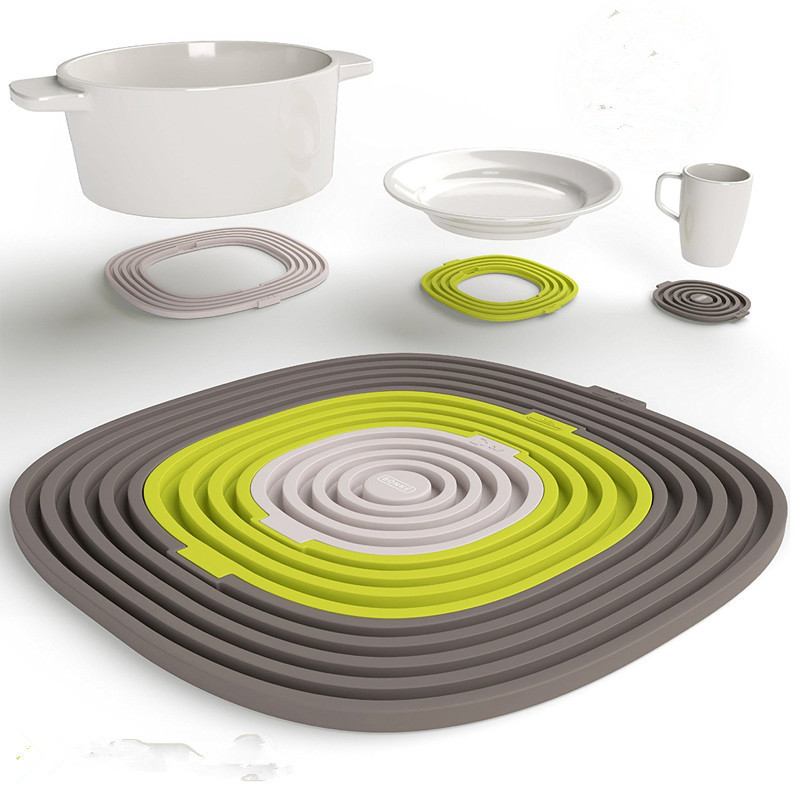 Us 5 57 5 Off Realand Creative New Multifucntional 3 In 1 Silicone Heat Resistant Kitchen Trivet Mat Coaster For Mug Plate Bowl Hot Pan Pot In