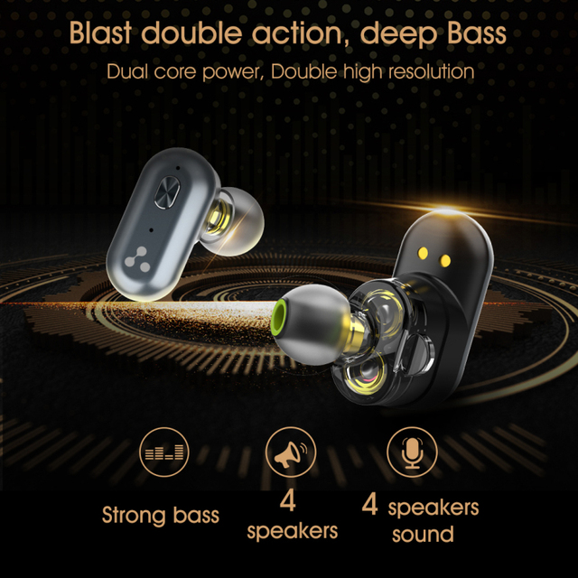 SYLLABLE S101 Strong bass TWS wireless headset noise reduction for music QCC3020 Chip of SYLLABLE S101 wireless sport Earphones 3