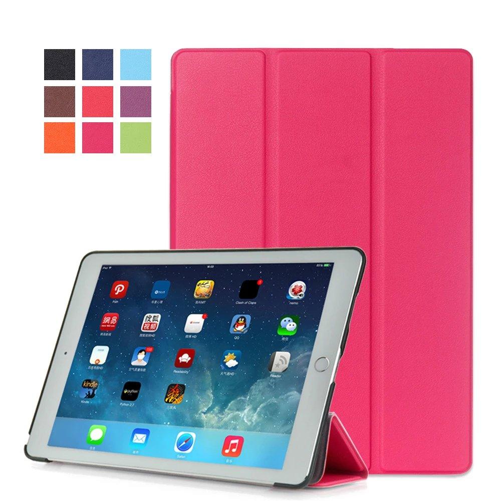 Rose red Monochrome multicolor smart case for Apple iPad Pro 9.7 inch 2016