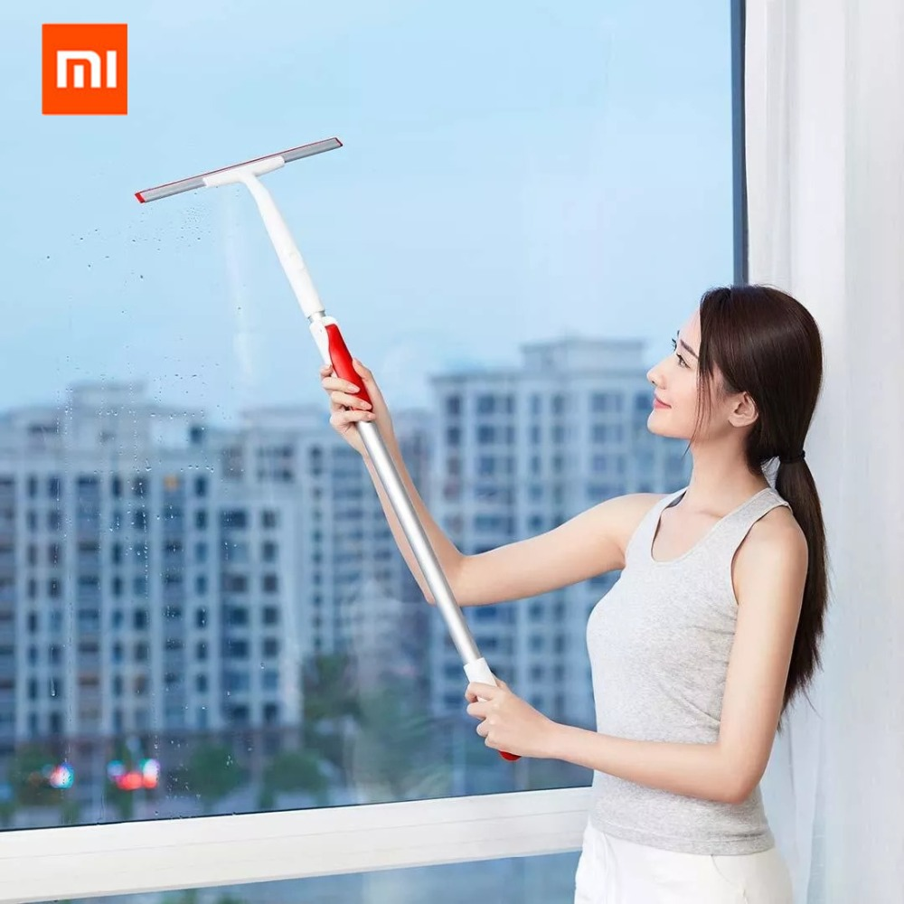 Original Xiaomi Mijia YIJIE Retractable Window Squeegee Portable Car Glass Cleaner 300mm Scrapers Bathroom Cleaning Kit