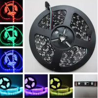 RGB Led Strip 5050 SMD 5M 300 Leds Strip Light DC 12V Fita Led Bar Neon Light Ampoule Led Lamp + IR Controller + Power Supply