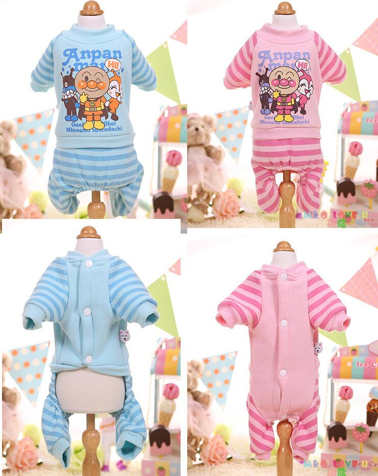 NEW Winter Dog Jumpsuit Protect Belly Espeically for Girls Coat Soft Cute Bulldog Poodle Pet Clothes XS S M L XL