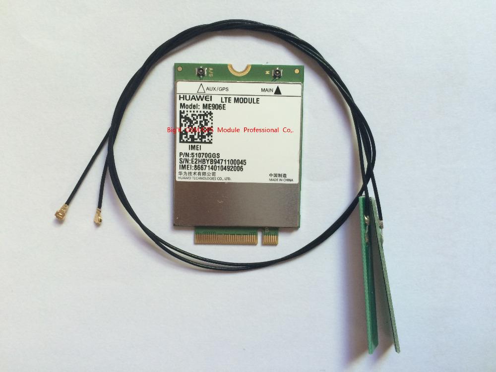 Prix pour JINYUSHI pour Débloqué ME906E + 2 PCS 30 CM IPX4 Antenne 100% NOUVEAU et Original FDD LTE 4G WCDMA GSM Module en stock