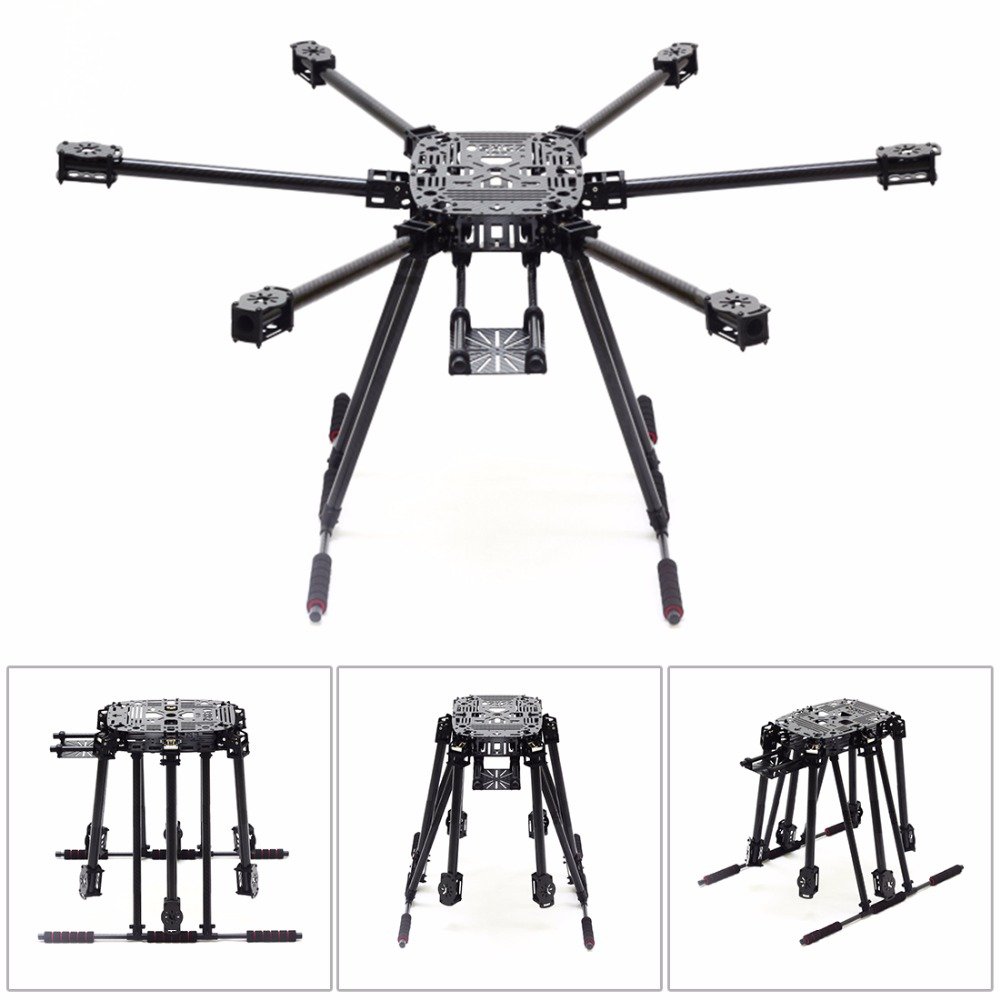 ZD850 Full Carbon Fiber Frame Kit with Unflodable Landing Gear Foldable Arm ZD 850 for DIY FPV Aircraft Hexacopter D zd850 full carbon fiber frame kit with unflodable landing gear foldable arm 6 axle hub set for diy fpv aircraft hexacopter