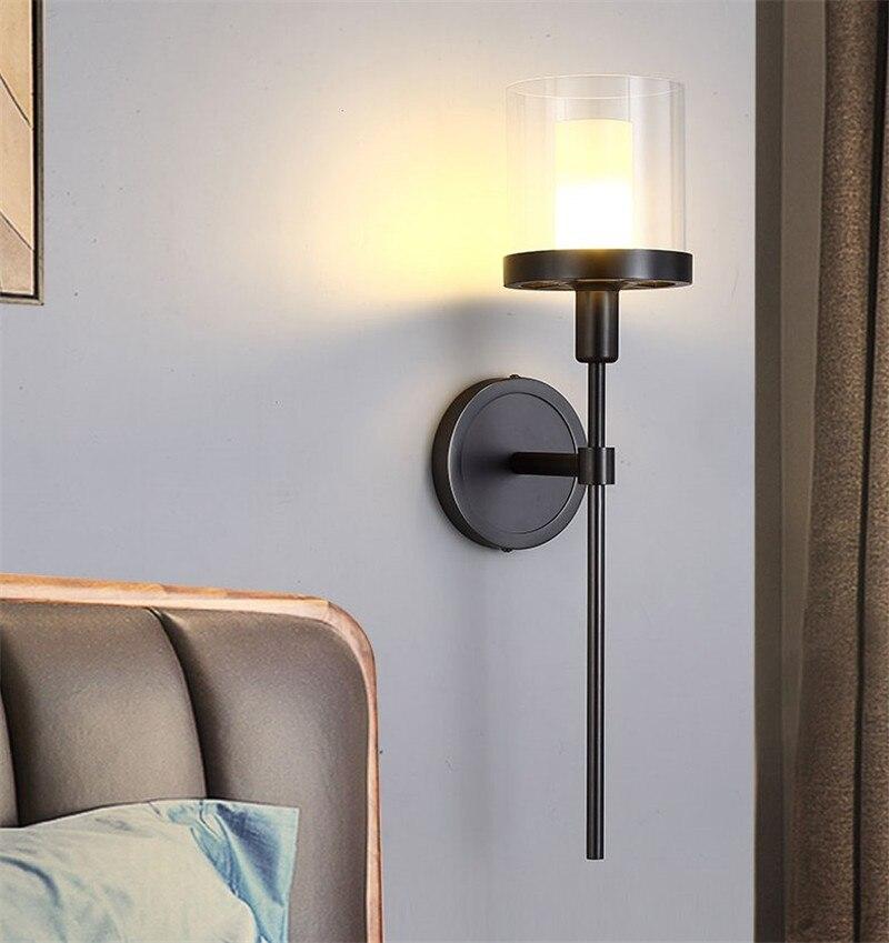 Ретро черный металл Стекло оттенков подвесная люстра E14 патрон подвесной светильник для Кухня Обеденная Ресторан внутреннего освещения
