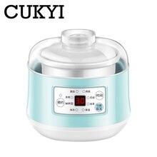 CUKYI мини многофункциональная плита электрическая 140 Вт медленноварки таймера управления тушеные продукты керамический вкладыш синий приготовления gruel