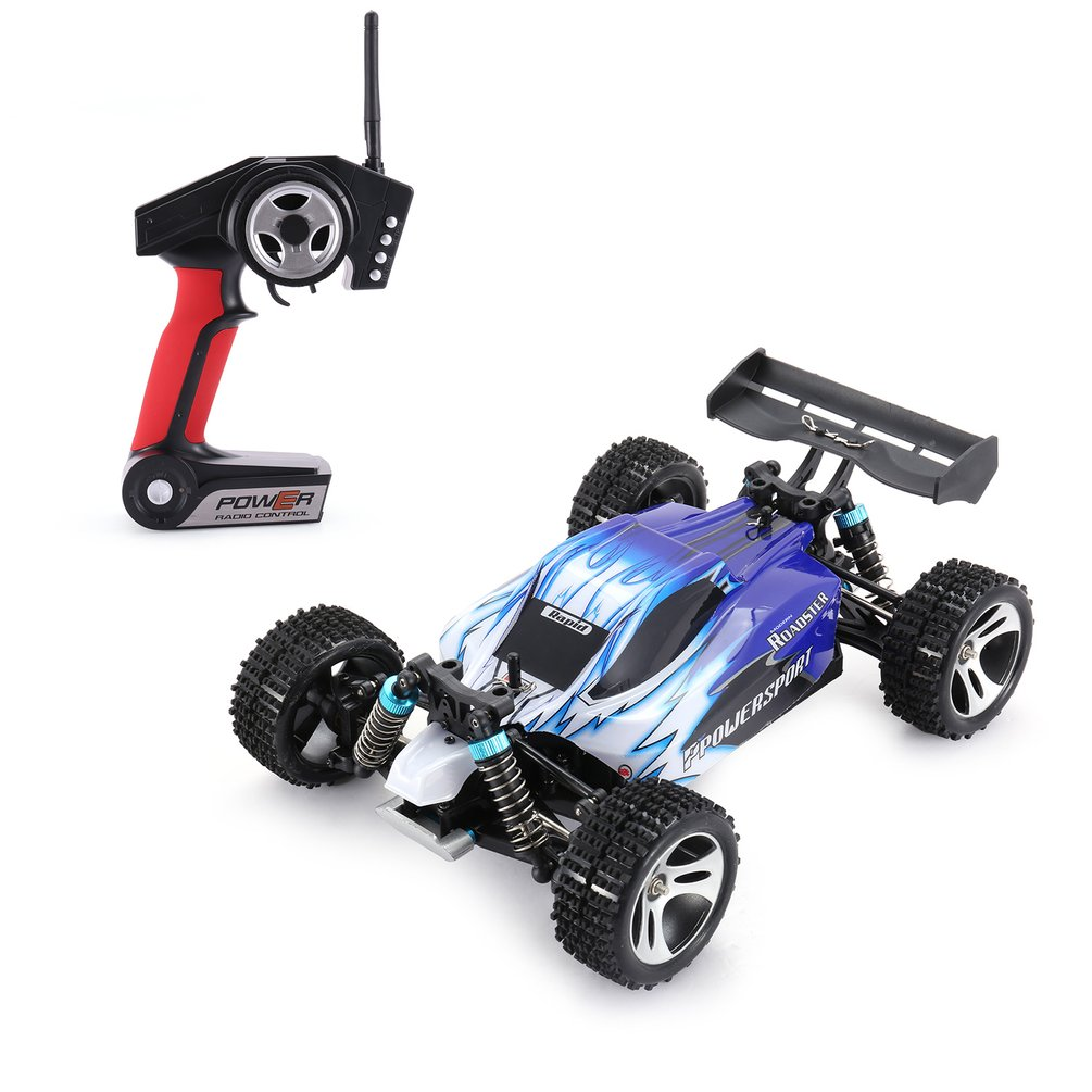 WLtoys A959 2.4GHz 1/18 Full Proportional Remote Control 4WD Vehicle 45KM/h High Speed Electric RTR Off road Buggy RC Racing Car