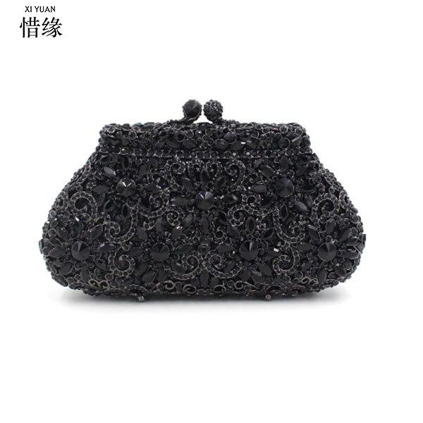 d53f6791c9 Dell'anguria Donna Signore Nero Diamante pietra Pochette Delle Sposa Di  Rosso Xiyuan nudo Del Festa ...