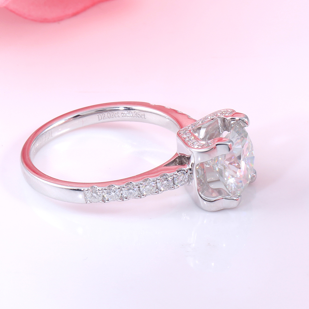 TransGems 2 Carat Lab Grown Moissanite Diamond Solitaire Wedding ...