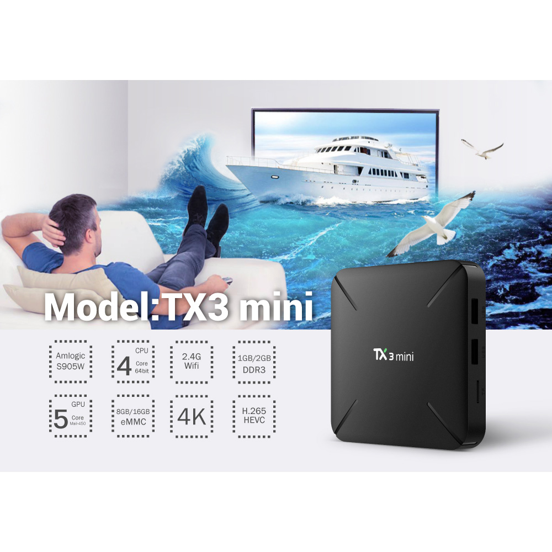 NEW TX3 MINI NO LED Smart TV BOX Android 7.1 4k S905W Quad-core Cortex-A53 Mali-450MP5 2.4G Wireless WIFI set top box pk tx3mini Lahore
