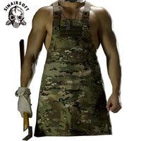 SINAIRSOFT 11 Color!Unisex Sleeveless Tactical Vest Apron Pinafore Camouflage Technician Mechanic Apron Tactical Multicam LY1402