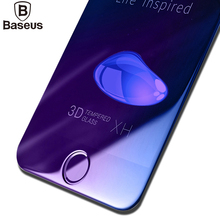 Baseus 0.2 ММ 9 H 3D Закаленное Стекло Пленка Для iPhone 7 Plus iphone7 7 plus Полный Защитная Крышка Анти-Синий Свет-Экран Протектор