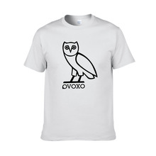 Ovoxo Owl Printed Short Sleeve Men Shirt 2018 New Arrival Summer Cotton O-neck Tops Men Casual tshirt Candy Color T-shirt Tee