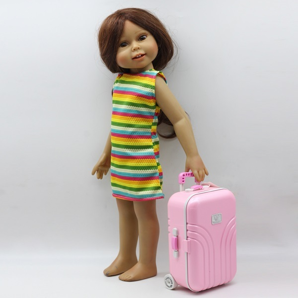 Realistic Travel Luggage Suitcase For Dolls