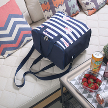 SANNE 21L Multifunction lunch Bag Thermal Oxford Lunch Waterproof Convenient Leisure FlamingoTote Insulation