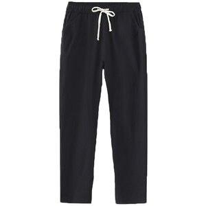 Image 5 - キャンディーの色夏パンツ女性のレースアップパンタロン綿リネンスウェットパンツカジュアルハーレムパンツ女性ズボン C5212