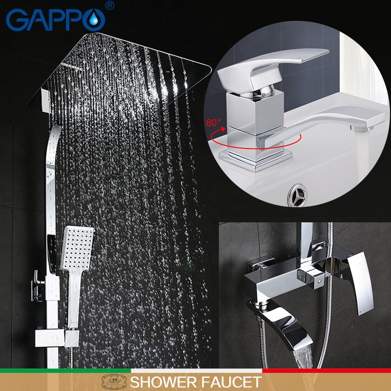 GAPPO shower mixer taps basin sink faucet basin faucet bath shower head Sanitary Ware Suite bathroom tub Faucet brass