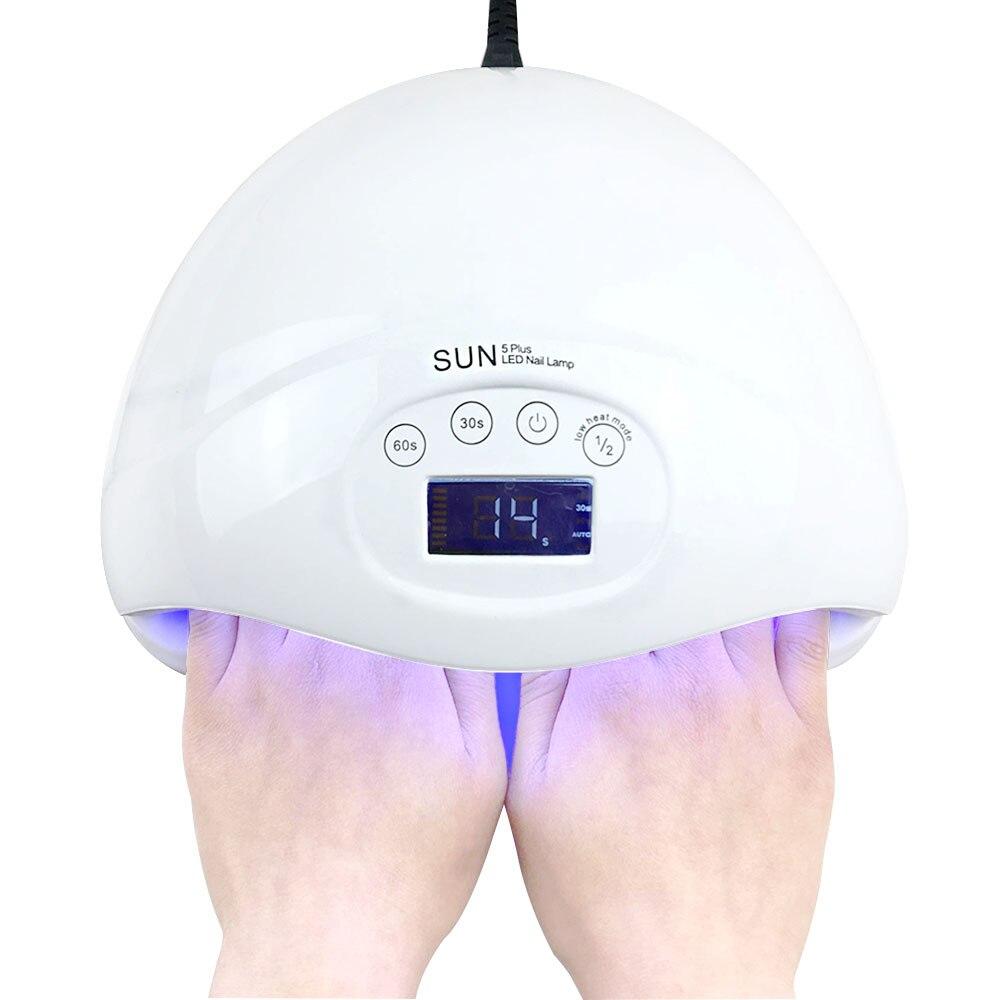 Large Nail UV Lamp SUN5 Plus 48W Nail Dryer LED UV Lamp Nail Dual Hands Lamp Curing For UV Gel Nail Polish Manicure Machine