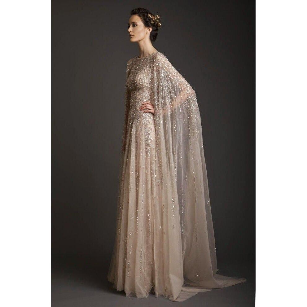 Cape Prom Dress