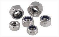 DIN985 10PCS M14 M16 M20 Nylon Lock Nut Locking Nut Self Lock Nut Stainless Steel Self