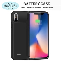 Soft Frame Back Cover 3200mah 5000mah Battery Charger Case for iPhone X Power Bank Case Pack Backup Battery Cover 360 Shockproof