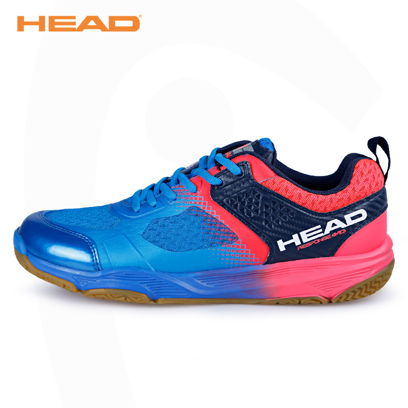 HEAD Light Breathable Badminton Shoes for Men Lace-up Sport Shoes Men's Training Athletic Shoe Anti-Slippery Tennis Sneakers image