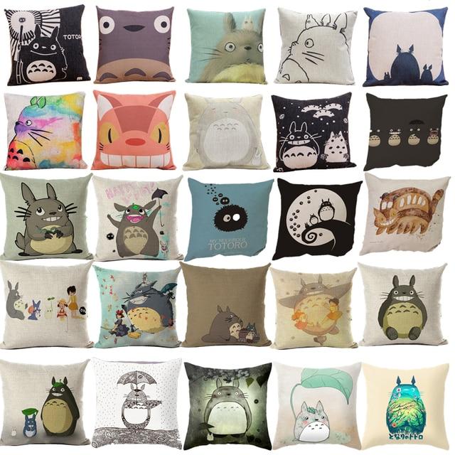 Del fumetto di Modo di Stile Decorativo Fodere per Cuscini Carino Totoro Stampat